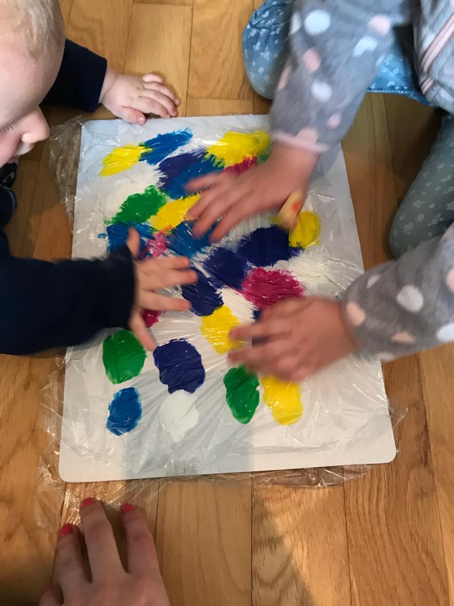 DIY - Malen ohne Sauerei (auch für Babies)